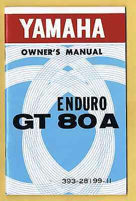Yamaha Gt 80 A Owner's Manual As New Condition 1973