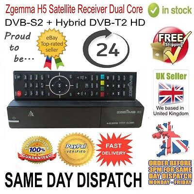 Zgemma H5 Satellite TV Receiver Dual Core DVB-S2 Hybrid DVB-T2 (CABLE) Combo Box