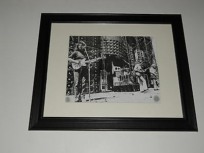 """Framed Grateful Dead Wall of Sound 1974 Jerry + Bob Mini-Poster, 14"""" by 17"""" RARE"""