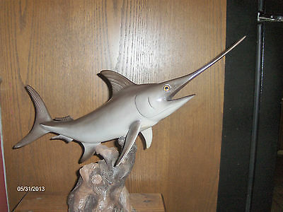 Shark by Land and Sea Wildlife Collection 1993 hand painted shark 21 inches tall