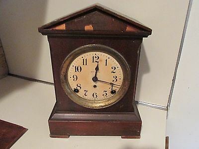 SETH THOMAS ANTIQUE  MAHOGANY MANTLE CLOCK