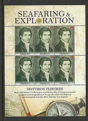 KIRIBATI 2009 SEAFARING & EXPLORATION CAPTAIN MATTHEW FLINDERS Sheet 6 MNH