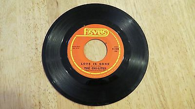 Record 45: The CHI-LITES LOVE ME /  LOVE IS GONE, REVUE 11005