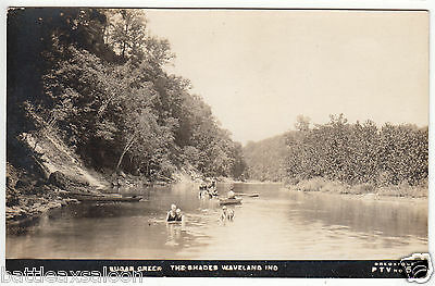 RPPC - Waveland, Ind. - The Shades on Sugar Creek - early 1900s