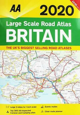 AA Large Scale Road Atlas Britain 2020 (Road Map) A3 - Brand New