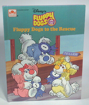 Vintage Golden Book Disney Fluppy Dogs To The Rescue 1986- Excellent!!