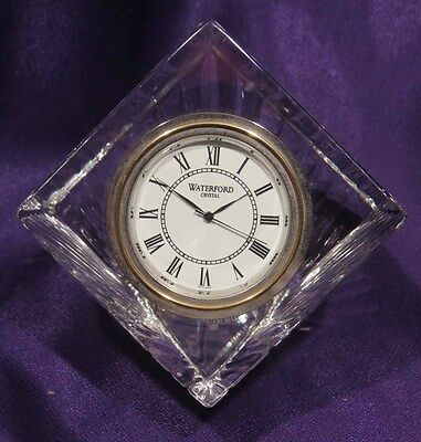 Crystal Cube Waterford Clock- Meridian - Needs New Battery