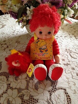 """Rainbow Brite Doll Red Butler  18"""" Tall & Romeo Sprite  With Dvd Nwob"""