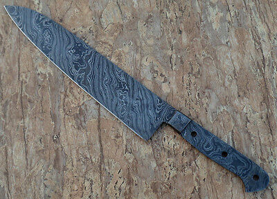 Damascus Knife Handmade Blank Blade - 15 Inches 2.5 mm chef Kitchen Knife