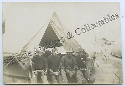 WW1 RP NPU POSTCARD AIF SOLDIERS IN CAMP SOUTHERN ENGLAND j45