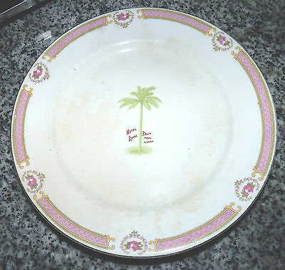 "Antique Luxury The Royal Palm Hotel 10"" Plate Miami Florida Henry Flagler 1897"