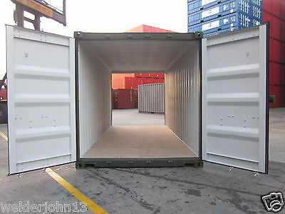 Shipping Container 20 Ft Dbl- Enders One Trip-Ral 6007 Green-Birmingham Depot