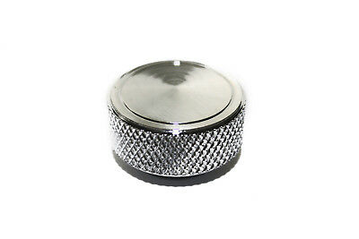 "Round Chrome Knurled  Air Cleaner Filter Wing Nut 1/4""-20 Chevy Ford Mopar"