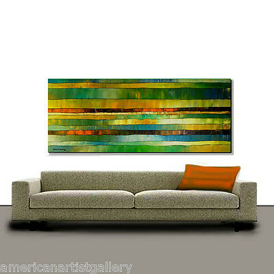 VERY LARGE 24x60 Original signed  Painting Ready To Hang Fine Art By Thomas John