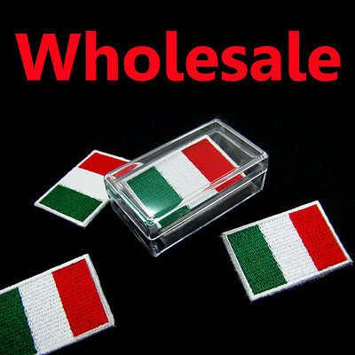 1 Box = 5 Pcs Italy Flag Embroidered Patch Italian Iron On Patch National Emblem