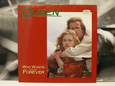 "Queen - Who Wants To Live Forever 12"" Ep Very Good+ 1986 Emi Holland Highlander"