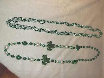 Saint Patricks Day Set Of Two 19 inch Beaded Necklace