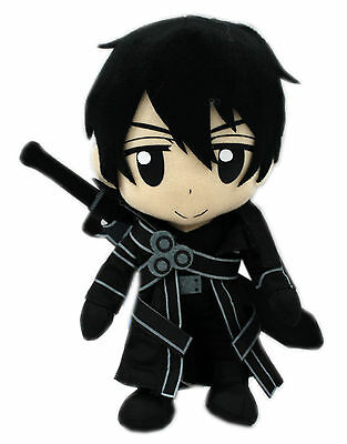 """New Authentic ~ 9"""" S.A.O. Kirito by Great Eastern Sword Art Online Plush Doll"""
