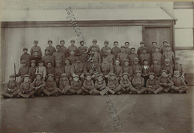C1911 SCARCE BOARD PHOTO FIRST SOLOMONTOWN SCHOOL CADETS SOUTH AUST. j77