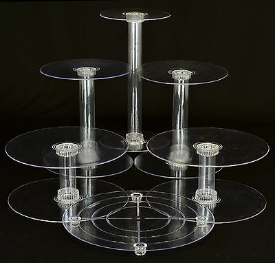 6 TIER CASCADE WEDDING CAKE STAND