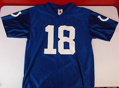 NFL Indianapolis Colts Payton Manning #18 Jersey Youth Size XL Extra Large 18-20