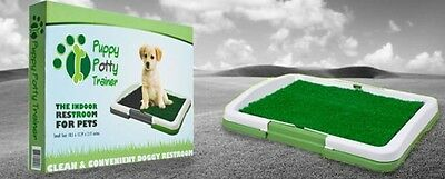 DOG PUPPY POTTY TRAINER INDOOR TRAINING GRASS PATCH PAD TOILET MAT TRAY PATIO