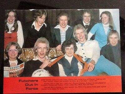 A4 Football picture/poster RON + PAUL FUTCHER + Family, Luton Town