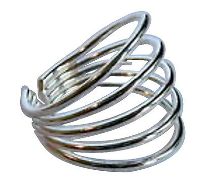 Sterling Silver (925) Adjustable Five  Rings Toe Ring !!    Brand New !!