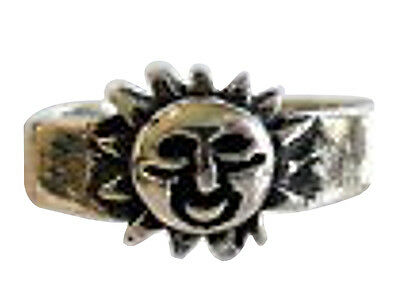 Sterling Silver (925) Adjustable  Sun  Toe Ring  !!     Brand New !!