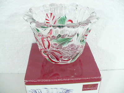 "Mikasa Germany ""Celebrations"" Festive Wreath Collection Votive 4-1/4"" SA522/610"