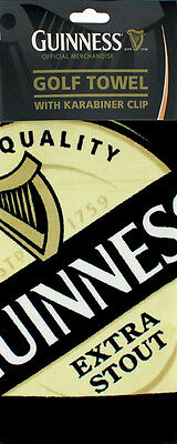 Gift - Guinness Official Merchandise Golf Tri Fold Towel With Karabiner - Open
