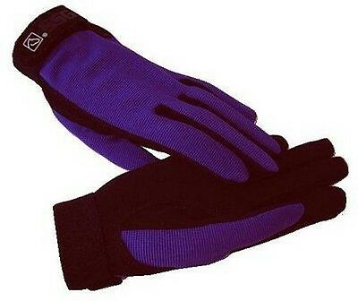 PURPLE SSG All Weather Riding Gloves 8600 Ladies Mens S Universal Child's