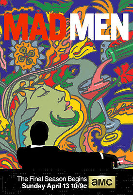 Mad Men Final Season TV Show Promotional Poster 34x24  Printing Poster