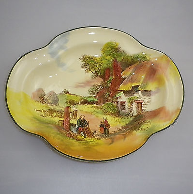 "Royal Doulton Series Ware "" RUSTIC ENGLAND  "" six sided bowl."