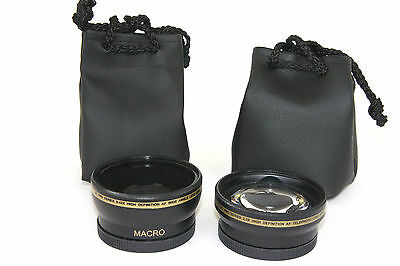 2Pc Lens Pro HD Wide Angle & Telephoto Lens Set for Sony Alpha A3000 ILCE-3000K