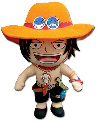 "1x Authentic Sealed One Piece 9"" Portgas D. Ace Plush Great Eastern (GE-52552)"