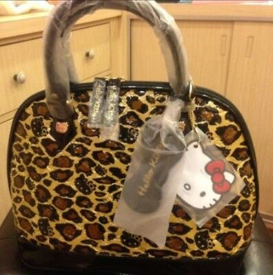 LOUNGEFLY HELLO KITTY LEOPARD PATENT EMBOSSED TOTE BAG  ( 100%Brand New )
