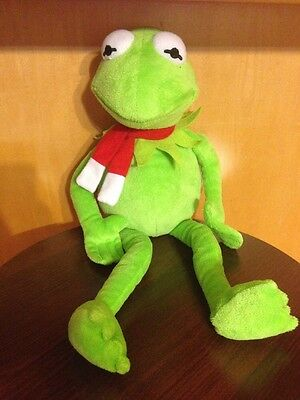 Kermit the Frog Plush Doll with Red Scarf 18""