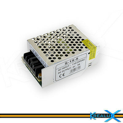 H503 alimentatore 5V 3A 15W switching stabilizzato LED 3528 5050 5630