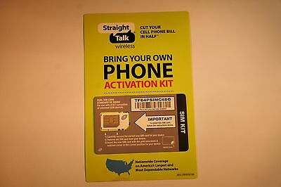 Straight Talk AT&T Compatible Standard / Micro Dual Size SIM Card for 3G & 4G