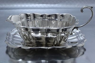 Reed & Barton Windsor Sterling Silver Gravy Sauce Boat with Under Plate