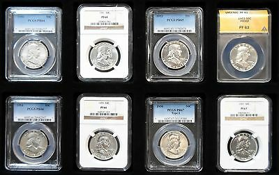 1950-1963 Certified Complete Proof and Silver Franklin Half Dollar Sets 50 Coins