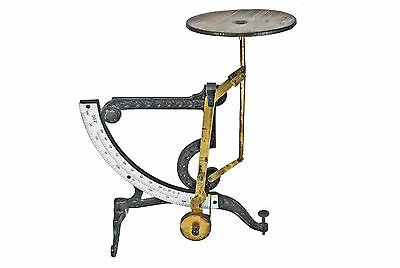 Vintage Pendulum Cast Iron & Brass Letter Scale Made by Ph. J. Maul, Germany.