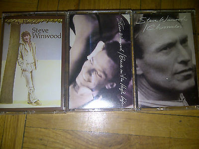 STEVE WINWOOD 3xCASSETTE TAPES Island BACK IN THE HIGH LIFE/Chronicles/Steve