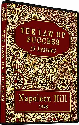 The Law of Success In Sixteen Lessons by Napoleon Hill, Self Help Motivation, CD