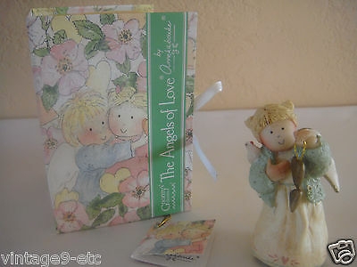"GNOMY'S DIARIES Angels of Love by ANNEKABOUKE ""Bless Your Heart"" Figurine!"