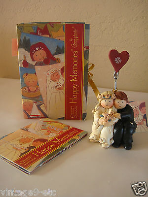 "New GNOMY'S BY ANNEKABOUKE Happy Memories ""Just Married"" Figurine!"