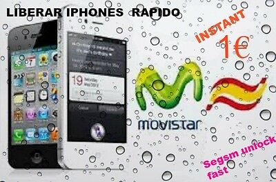 Movistar Spain Factory Iphone unlock 3,3s,4,4s,5,5s,5c,6,6+ INSTANT