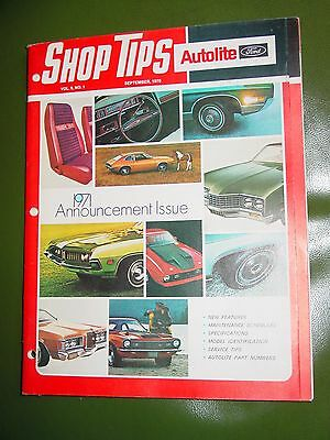 Sept 1970 Ford Shop Tips 1971 Announcement Issue mustang maverick torino van