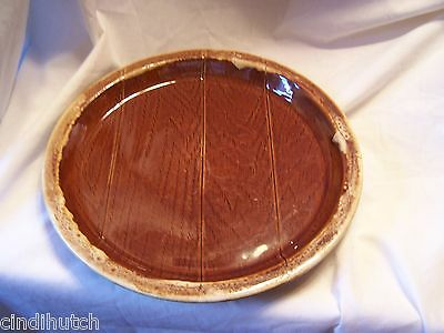 Vintage Unique Brown Drip Wood Grain Dinner Plate ABC Approved Usa 1++